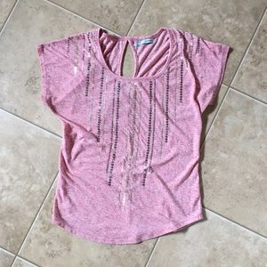 Maurices Small Gold Sequin Pink/Peach top
